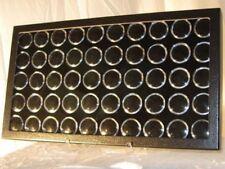 Mineral Display Case-Leatherette w/50 Black Gem Jar Inserts