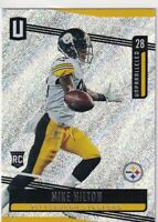 2019 UNPARALLLED RC MIKE HILTON PITTSBURGH STEELERS ROOKIE - C1518