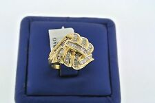 14K YELLOW GOLD 1.00 CT BAGUETTE CUT DIAMOND LADIES CLUSTER RING SIZE 8.5