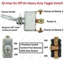3 Position Toggle Switch 50 Amp On-Off On Heavy Duty Toggle Switch Dune Buggy