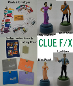 Clue FX F/X Electronic Board Game Replacement Pieces Movers Cards Battery Cover