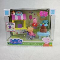 NEW Peppa Pig Perfect Birthday Party Playset MANDY MOUSE Wheelchair 2 Figures