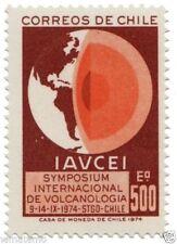 Chile 1974 #855 Symposium Internacional de Vulcanologia - america map MNH