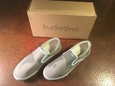 NIB BUCKETFEET 2015 SLIP-ON SNEAKERS Nomad Gray 11 Retired