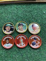 Vintage 1964 Topps Baseball Coin Lot 6 Causey, Hansen, Marichal, Maloney, Orsino