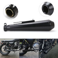 "17.5"" motorcycle Exhaust Pipe short megaphone removable silencers Universal UK"