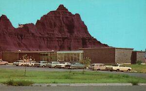 Vintage Postcard Park Headquarters Bad Lands National Monument Cedar Pass SD