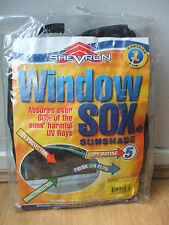 NEW SHEVRON WINDOW SOCKS SOX VOLVO S60 4D SALOON 02-10 SUNSHADE CAR CHILD SHADE