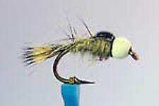 1 x Mouche Nymphe Lievre BILLE TUNGSTENE Blanc H10 a 18 tungsten bead fly hare