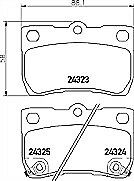Pagid T1593 Brake Pad Set REAR for Lexus GS IS Toyota