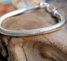 Silberarmband 18,7 cm Ø 5,8 mm Massiv Silber Schlangenkette Armband Handarbeit
