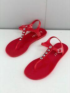 Holster Womens Flip Flop Sandals Flat Slip On Size 6 Red