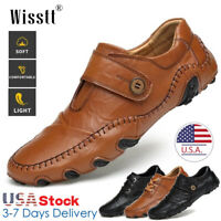 Mens Leather Casual Shoes Wedding Dress Formal Work Driving Slip On Loafers Size