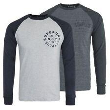 Camisetas de hombre de manga larga en gris