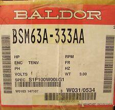 BALDOR 6000 RPM 200 V AC SMCO Servo Motor BSM63A 333AA