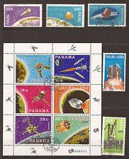 PANAMA L'Espace: les satellites apolloVII,surveyor,diademe,san marco, BL 142