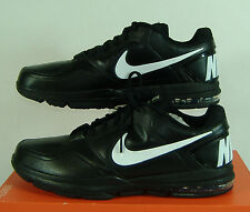 New Mens 13 NIKE Air Trainer 1.3 Low TB Black White Leather Shoes $90 535721-010