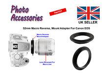 52mm Macro Adaptador Anillo Inversa para Canon EOS Cuerpo SLR digital o de película