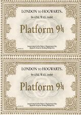 2 X A6 Harry Potter Hogwarts express tickets Cake Topper ICING