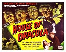 House Of Dracula Quad Style Movie Poster 24inx36in