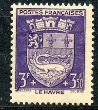 STAMP / TIMBRE FRANCE NEUF N° 561 ** BLASON / LE HAVRE