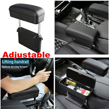 Black Pu Leather Car Center Console Armrest Box Retractable Seat Gap Organizer