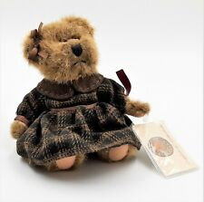 """Russ Berrie Vintage Collection BRITTANY Brown Stuffed Plush Bear Articulated 7"""""""
