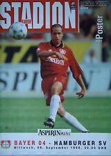 Programm 1998/99 Bayer 04 Leverkusen - Hamburger SV