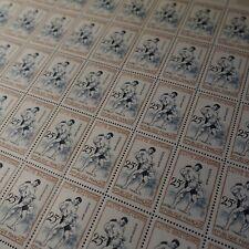FEUILLE SHEET TIMBRE SPORT LUTTE BRETONNE N°1164 x50 1958 NEUF ** LUXE MNH