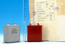 4uF 630V * MATCHED PAIR * PiO Capacitors MBGO / МБГО Military Grade Paper Oil