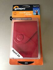 NEW OEM LOWEPRO Napoli 20 RED Nappa Leather Compact Universal Camera Case