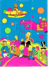 Inkworks 2001  The Simpson Mania Simpsadelic Blacklight Full Set (9)