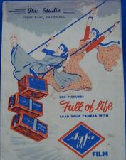 Old Vintage Paper Cover of Agfa Co. from India 1960