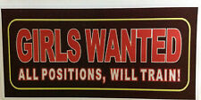 RAT ROD HOT ROD  CHOPPER  BOBBER  DECAL STICKER    GIRLS WANTED