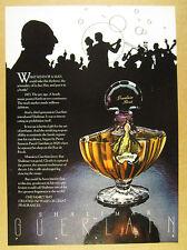 1978 Guerlain Shalimar Perfume bottle photo vintage print Ad