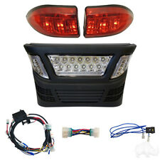 Club Car Precedent Gas LED Light Bar Bumper Kit with LED Accent Lights