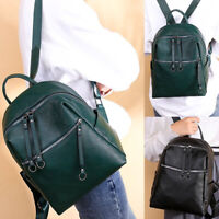 Women's Leather Anti-Theft Cool Backpack School Shoulder Bag Retro Vintage Hot
