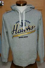 Hermantown Hawks High School Minnesota Hockey Bauer Hooded Sweatshirt Medium