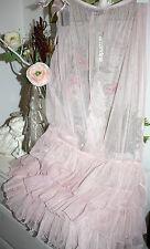 Amandine Skirt Rock Tüll-Rock Transparent Lagenlook Rosé  Lang size:1 40-42 Neu