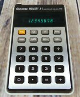 Casio Memory A-1, Electronic Calculator Vintage