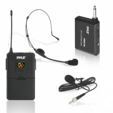Pyle PDWM12UH Wireless Microphone System Transmitter with Headset & Lavalier Mic