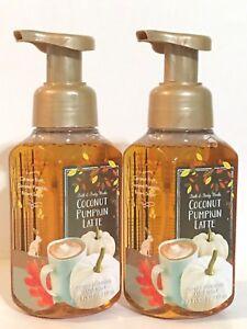 LOT 2 BATH & BODY WORKS COCONUT PUMPKIN LATTE GENTLE FOAMING HAND SOAP 8.75 OZ