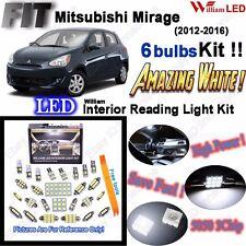 6x LED Interior Light Kit White Parkiing Lamps For Mitsubishi Mirage 2012-2016