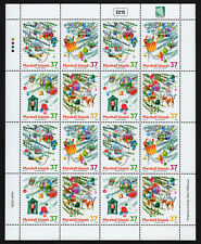 MARSHALL ISLANDS, SCOTT # 825, FULL SHEET OF CHRISTMAS ORNAMENTS & DECORATIONS