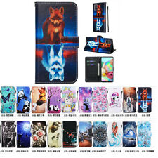 10pcs/lot Painted Leather Cover Wallet Card Pocket Phone Case for iPhone Samsung