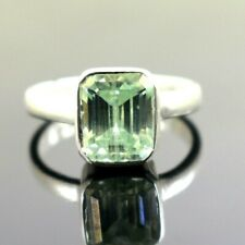 4.25 Ct Certified Emerald Cut Natural Earth Mined Sky Blue Diamond Ring!
