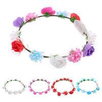 Led light hair band ring headband hair accessories headdress flower garland YA9C