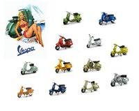 Modellino Vespa modellini statici 1/32 collezione moto vintage moto piaggio 125