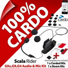 Cardo Scala Rider Audio & Mic Accessory Kit g9x g9 g4 Motorrad Helm Gegensprecha...