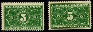 US #JQ3 5c Parcel Post Postage Due MNH Lot (SCV $48 for both)